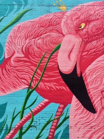Jc Rivera's Mural outside Flamingo Rum Club (Chicago)