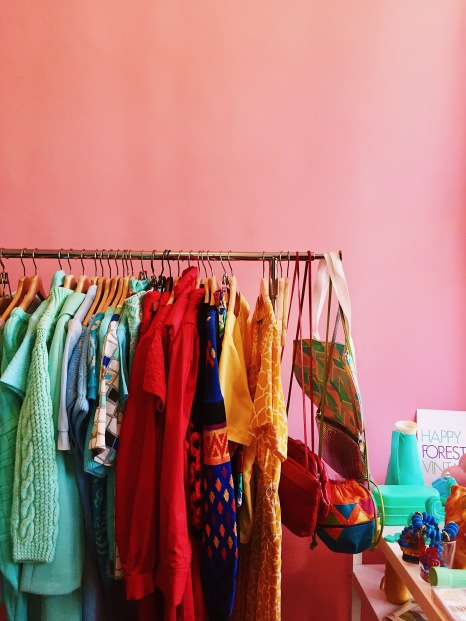 Festive Collective's colorful rack
